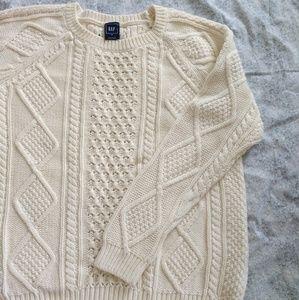 GAP cream sweater size M